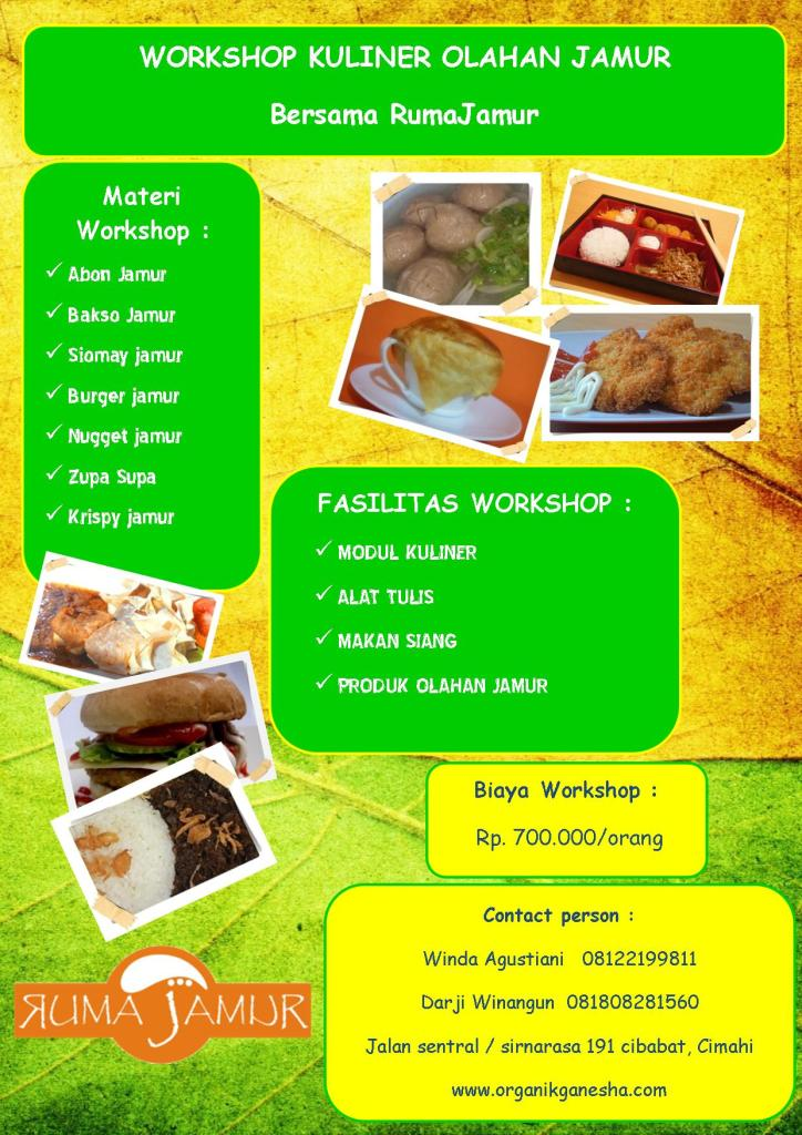 flyer pelatihan kuliner jamur