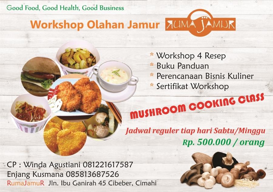 pelatihan kuliner jamur olahan jamur