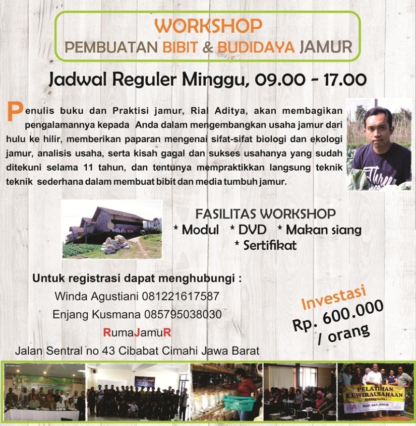 Info Pelatihan Bibit dan Budidaya Jamur