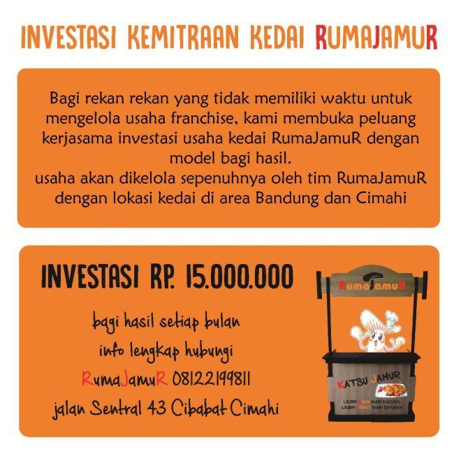 info peluang investasi kemitraan kedai jamur