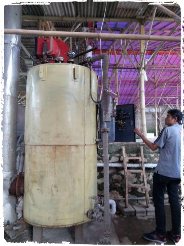 boiler untuk sterilisasi baglog jamur